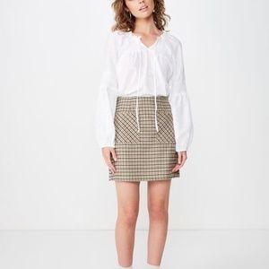 NWT Cotton:On Breanne Blouson Sleeve Top White M